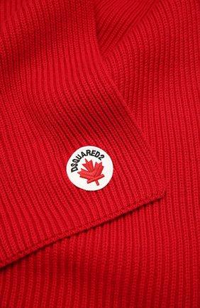 Детский шарф из шерсти и хлопка DSQUARED2 красного цвета, арт. DQ04DL-D00WC | Фото 2
