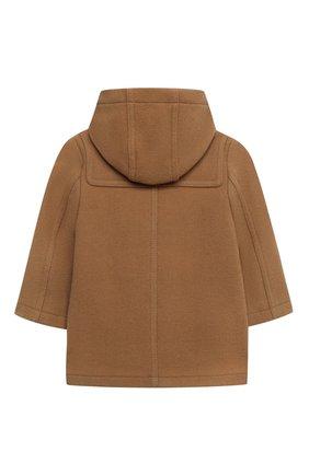 Детского шерстяное пальто BURBERRY бежевого цвета, арт. 8033193 | Фото 2