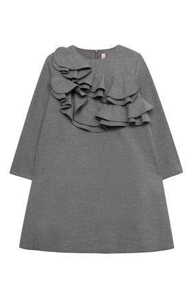 Детское платье IL GUFO серого цвета, арт. A20VL402W0003/5A-8A | Фото 1