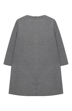 Детское платье IL GUFO серого цвета, арт. A20VL402W0003/5A-8A | Фото 2