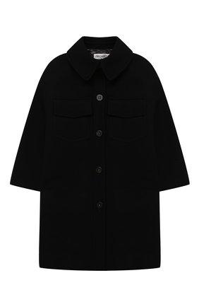 Детское шерстяное пальто SIMONETTA черного цвета, арт. 1N2050/NE770/5-8   Фото 1
