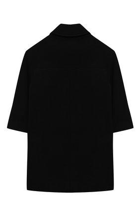 Детское шерстяное пальто SIMONETTA черного цвета, арт. 1N2050/NE770/5-8   Фото 2