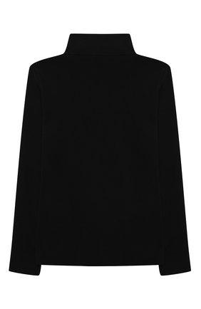 Детская хлопковая водолазка BALMAIN черного цвета, арт. 6N9570/NF280/4-10   Фото 2