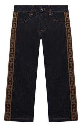 Детские джинсы FENDI синего цвета, арт. JFF203/A6IQ/8A-12+ | Фото 1