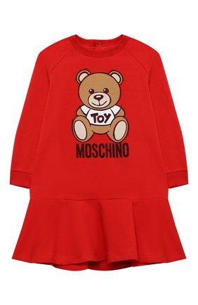 Женский хлопковое платье MOSCHINO красного цвета, арт. MAV07M/LDA14 | Фото 1