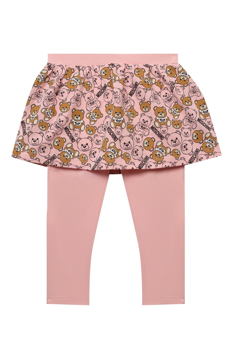Детский комплект из лонгслива и брюк MOSCHINO бежевого цвета, арт. MDK01M/LBB48 | Фото 5