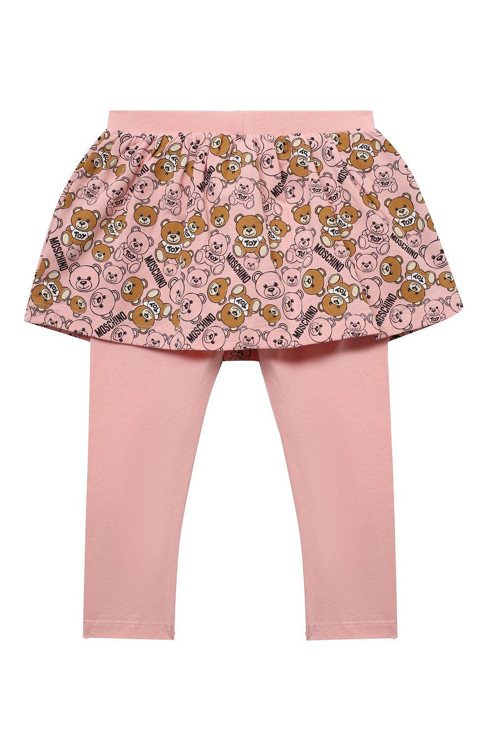Детский комплект из лонгслива и брюк MOSCHINO бежевого цвета, арт. MDK01M/LBB48 | Фото 6