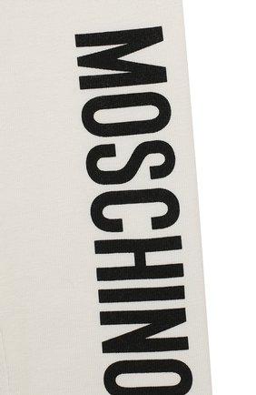 Детские хлопковые леггинсы MOSCHINO бежевого цвета, арт. MJP02B/LBA11 | Фото 3