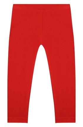 Детские хлопковые леггинсы MOSCHINO красного цвета, арт. MJP02B/LBA11 | Фото 2