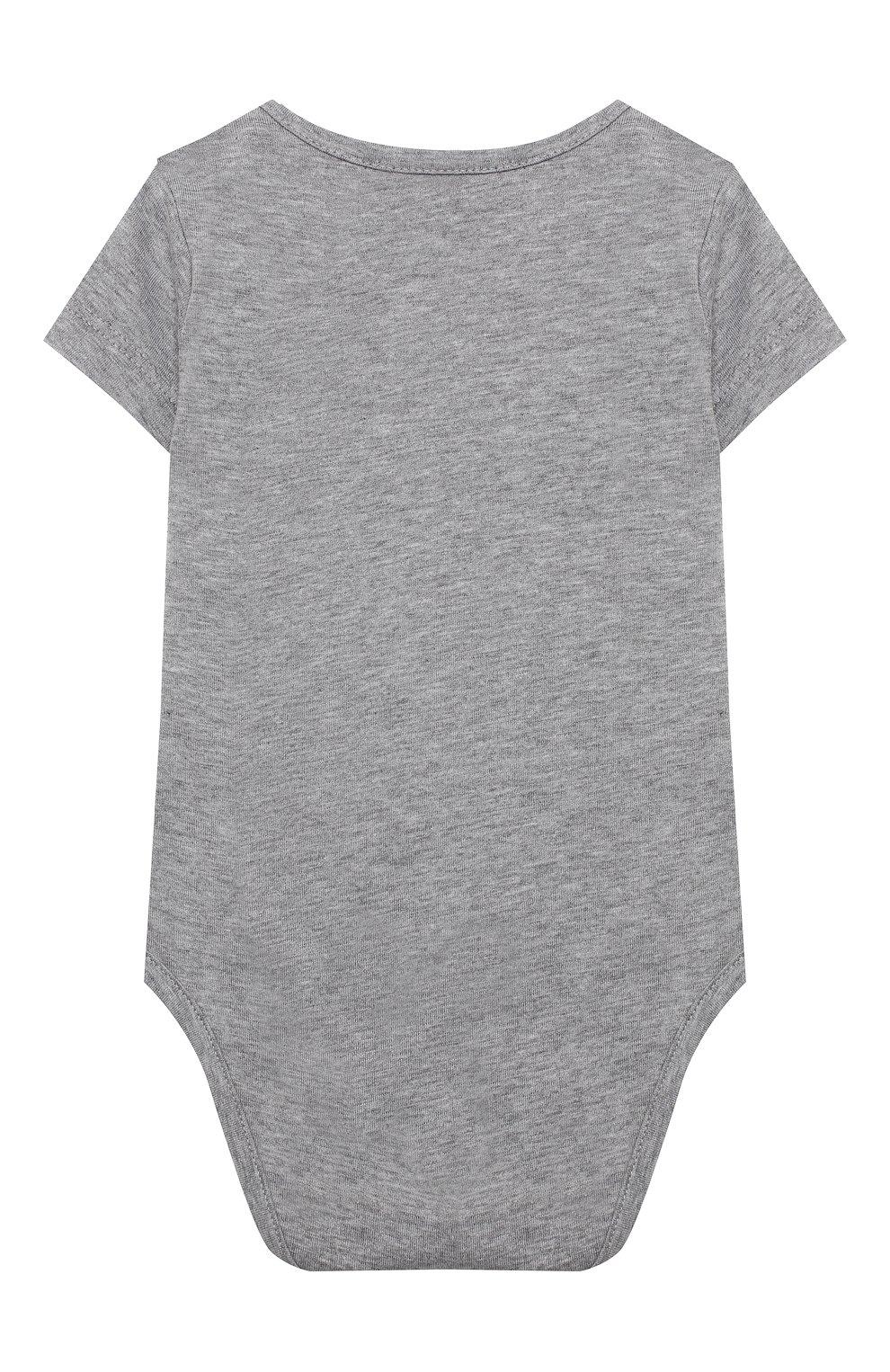 Детское комплект из двух боди MOSCHINO серого цвета, арт. MQY017/LAB19 | Фото 6