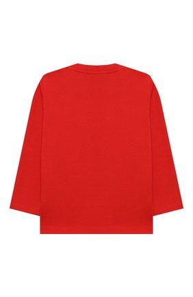 Детский хлопковый лонгслив MOSCHINO красного цвета, арт. MS0000/LBA22 | Фото 2