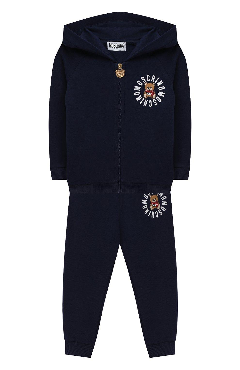 Детский комплект из толстовки и брюк MOSCHINO темно-синего цвета, арт. MUK02Q/LDA17   Фото 1