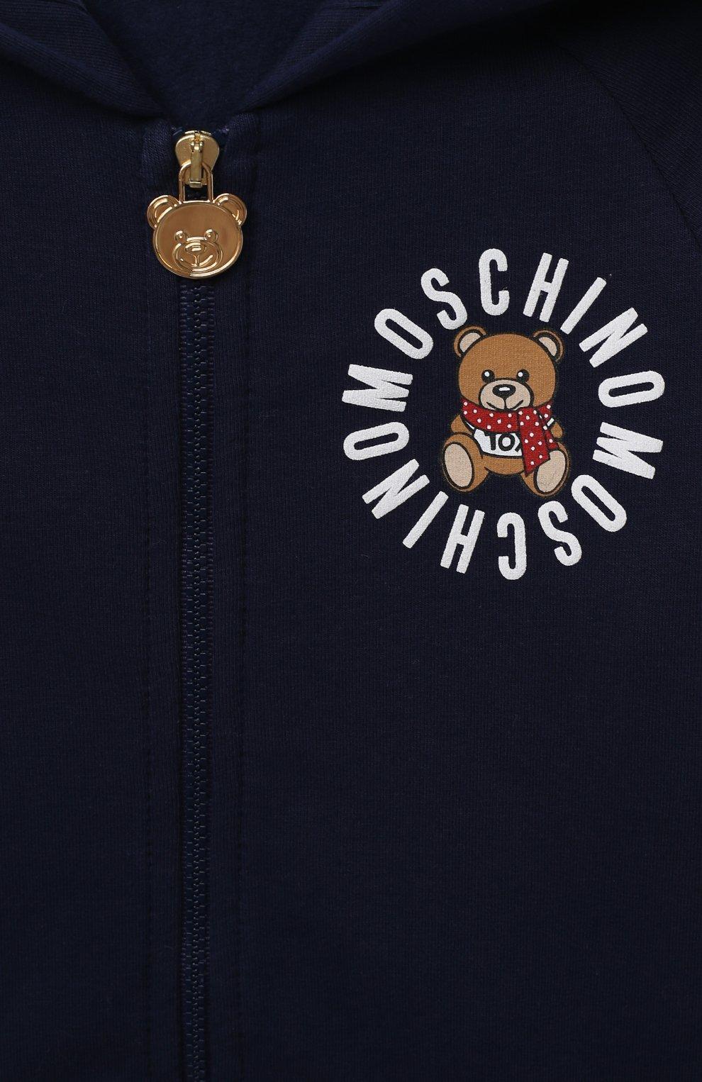 Детский комплект из толстовки и брюк MOSCHINO темно-синего цвета, арт. MUK02Q/LDA17   Фото 4