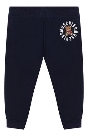Детский комплект из толстовки и брюк MOSCHINO темно-синего цвета, арт. MUK02Q/LDA17   Фото 5