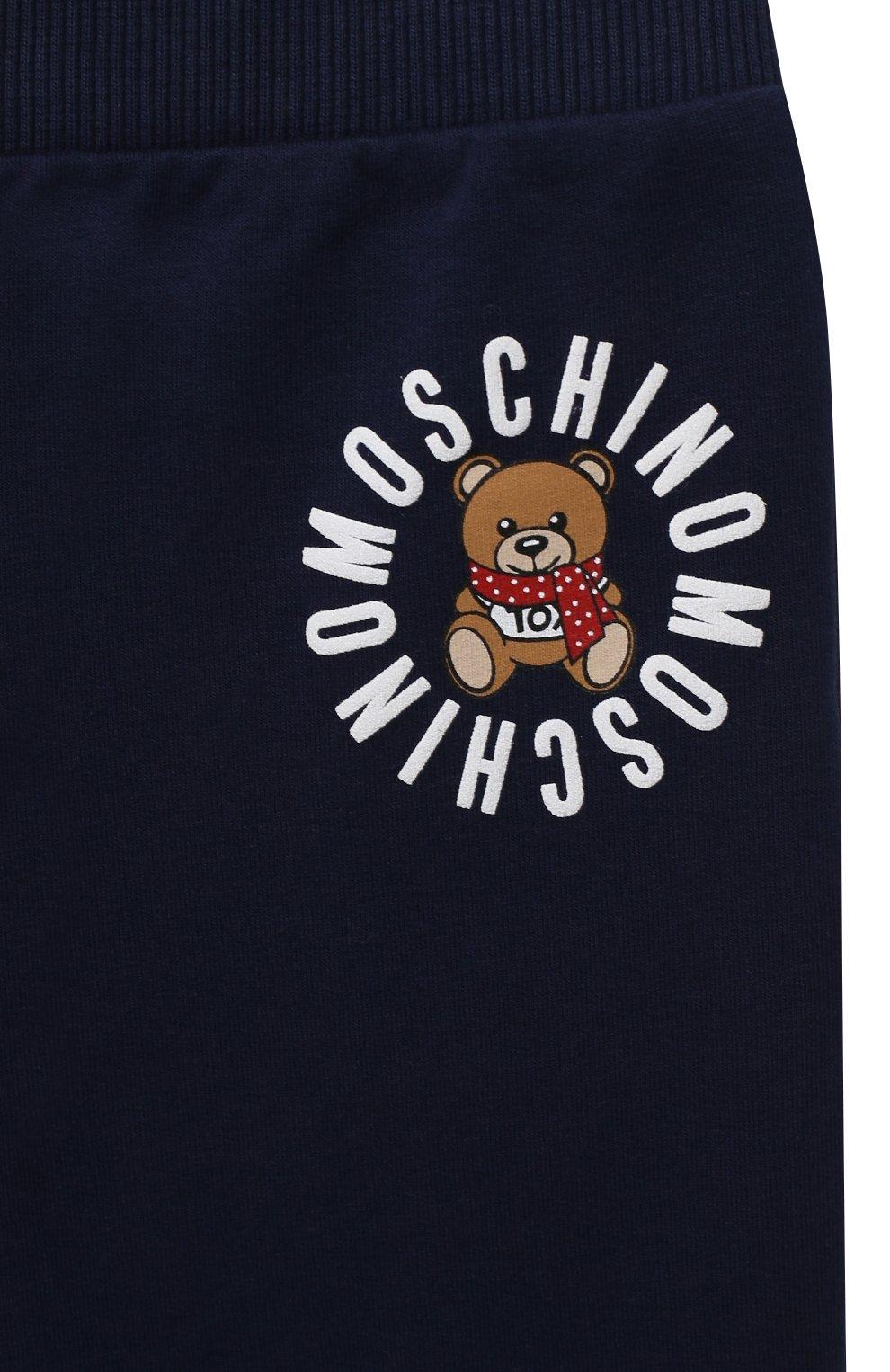 Детский комплект из толстовки и брюк MOSCHINO темно-синего цвета, арт. MUK02Q/LDA17   Фото 7