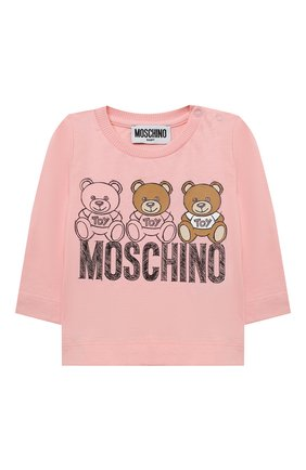 Детский комплект из лонгслива и брюк MOSCHINO розового цвета, арт. MUK02S/LAB19 | Фото 2