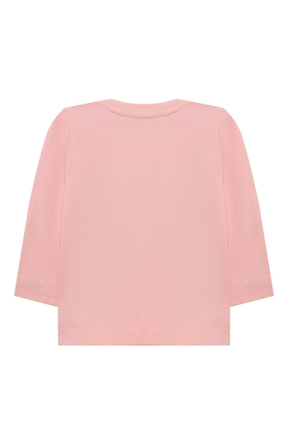 Детский комплект из лонгслива и брюк MOSCHINO розового цвета, арт. MUK02S/LAB19   Фото 3