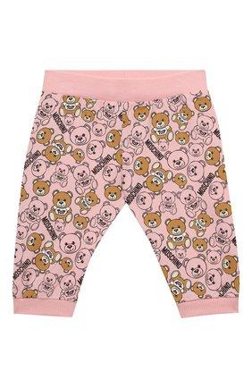 Детский комплект из лонгслива и брюк MOSCHINO розового цвета, арт. MUK02S/LAB19   Фото 5