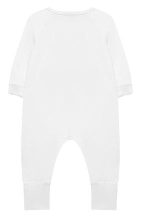 Детский хлопковый комбинезон MOSCHINO белого цвета, арт. MUT01R/LAA10 | Фото 2