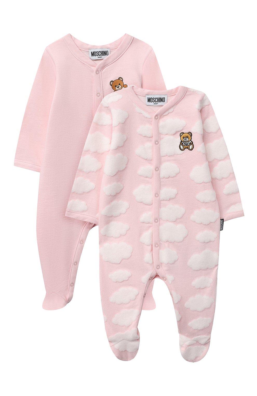 Детский комплект из двух комбинезонов MOSCHINO розового цвета, арт. MUY030/LAF00   Фото 1