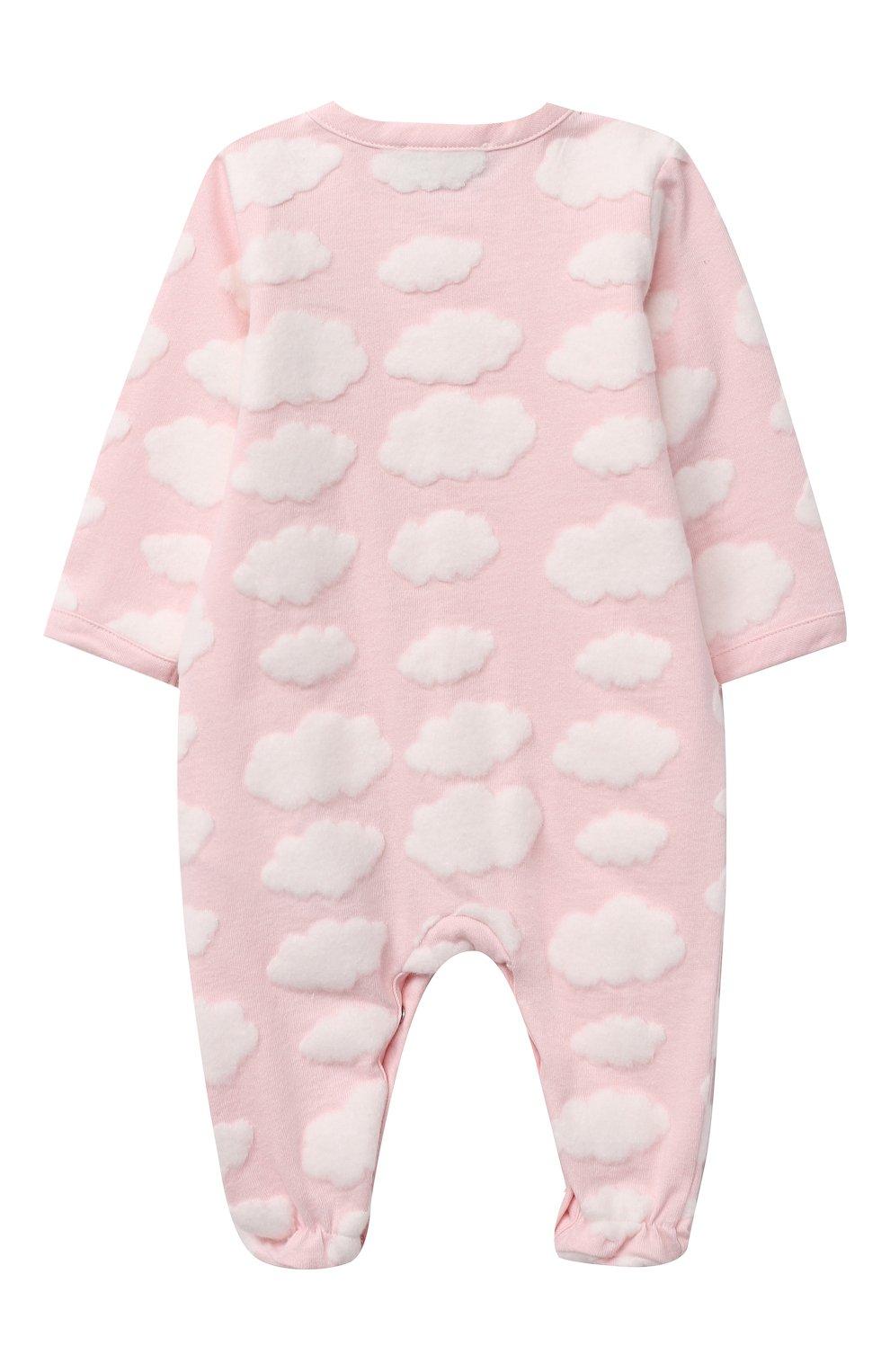 Детский комплект из двух комбинезонов MOSCHINO розового цвета, арт. MUY030/LAF00   Фото 3