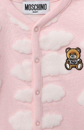 Детский комплект из двух комбинезонов MOSCHINO розового цвета, арт. MUY030/LAF00   Фото 4