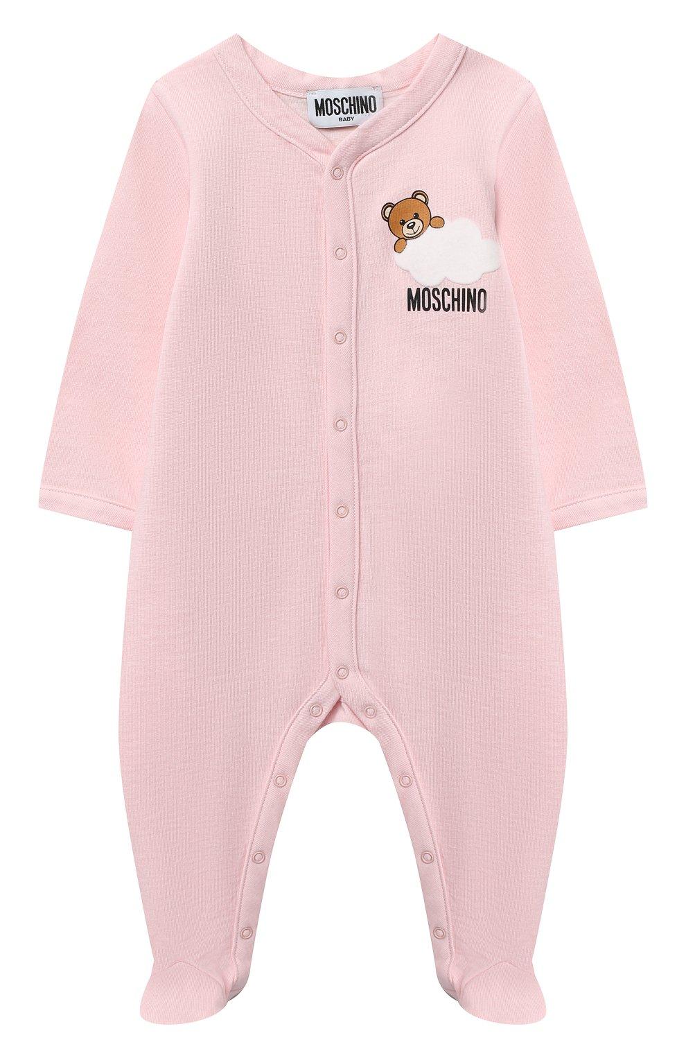 Детский комплект из двух комбинезонов MOSCHINO розового цвета, арт. MUY030/LAF00   Фото 5