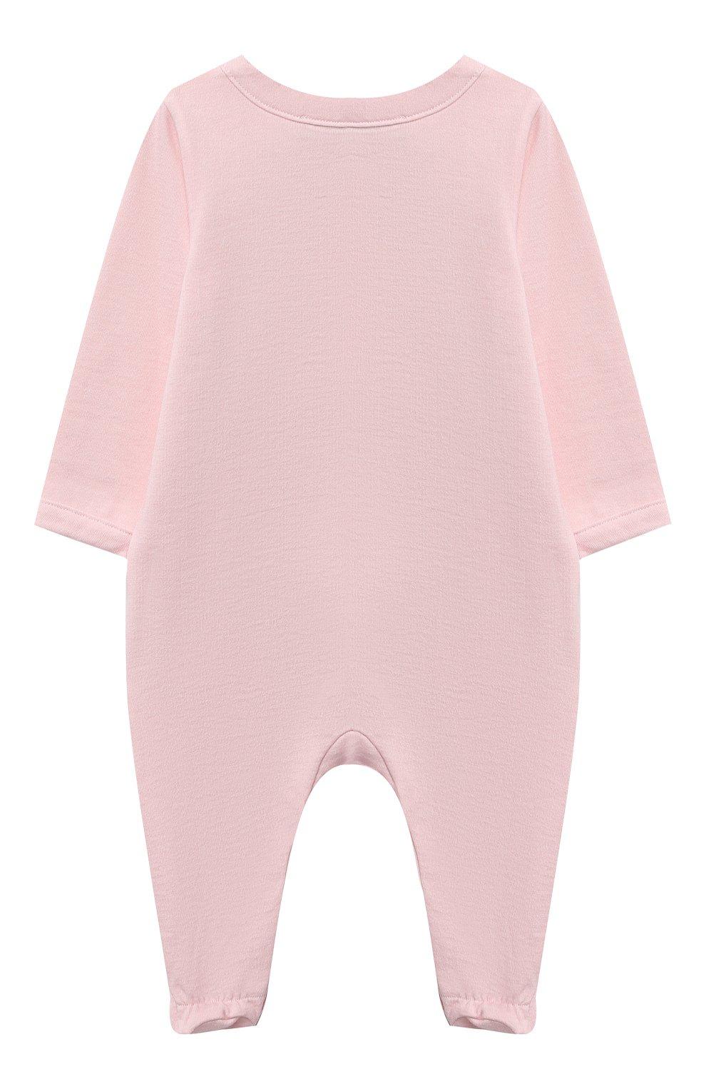 Детский комплект из двух комбинезонов MOSCHINO розового цвета, арт. MUY030/LAF00   Фото 6