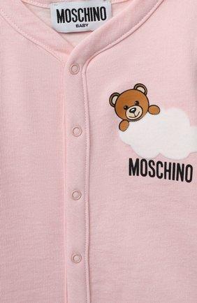 Детский комплект из двух комбинезонов MOSCHINO розового цвета, арт. MUY030/LAF00   Фото 7