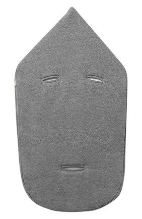 Детский хлопковый конверт MOSCHINO серого цвета, арт. MZE005/LCE00 | Фото 2