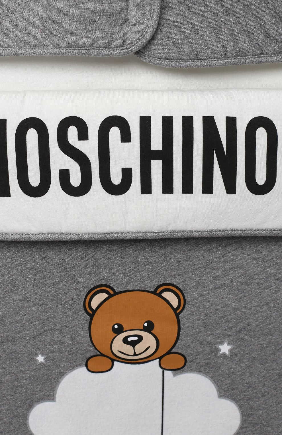 Детский хлопковый конверт MOSCHINO серого цвета, арт. MZE005/LCE00 | Фото 3