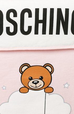 Детский хлопковый конверт MOSCHINO розового цвета, арт. MZE005/LCE00 | Фото 3