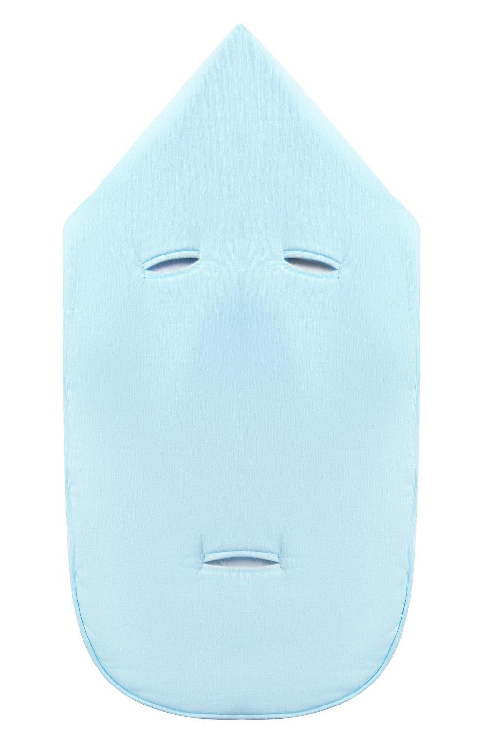 Детский хлопковый конверт MOSCHINO голубого цвета, арт. MZE005/LCE00   Фото 2