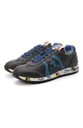 Детские кожаные кроссовки PREMIATA WILL BE серого цвета, арт. LUCY/11-11312/JUN | Фото 1 (Материал внутренний: Натуральная кожа)