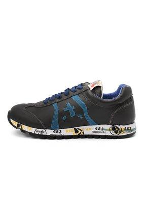 Детские кожаные кроссовки PREMIATA WILL BE серого цвета, арт. LUCY/11-11312/JUN | Фото 2 (Материал внутренний: Натуральная кожа)