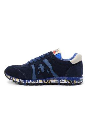 Детские замшевые кроссовки PREMIATA WILL BE синего цвета, арт. LUCY/11-11442/JUN | Фото 2 (Материал внутренний: Натуральная кожа)