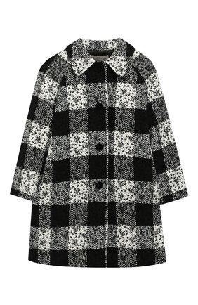 Детское пальто ERMANNO SCERVINO черно-белого цвета, арт. 47I CP07 SC0/10-16   Фото 1