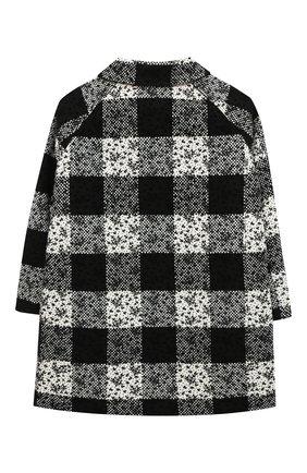 Детское пальто ERMANNO SCERVINO черно-белого цвета, арт. 47I CP07 SC0/10-16   Фото 2