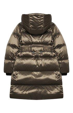 Детское пуховое пальто BURBERRY хаки цвета, арт. 8032793   Фото 2