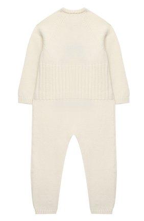 Детский шерстяной комбинезон BABY T белого цвета, арт. 20AI061T/18M-3A | Фото 2