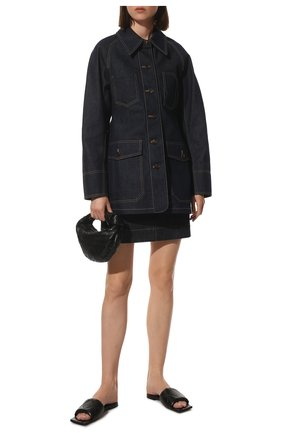 Женские кожаные шлепанцы bv rubber BOTTEGA VENETA черного цвета, арт. 639940/VBP30 | Фото 2
