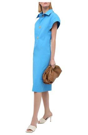 Женские кожаные мюли bv rubber lido BOTTEGA VENETA кремвого цвета, арт. 639943/VBP30 | Фото 2