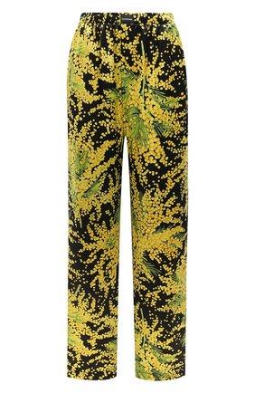 Женские шелковые брюки BALENCIAGA желтого цвета, арт. 595222/TJL16 | Фото 1
