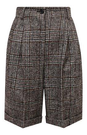Женские шерстяные шорты DOLCE & GABBANA серого цвета, арт. FTBX0T/FQMIB | Фото 1
