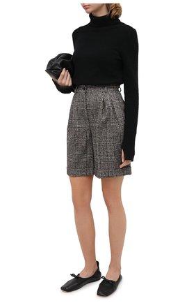 Женские шерстяные шорты DOLCE & GABBANA серого цвета, арт. FTBX0T/FQMIB | Фото 2