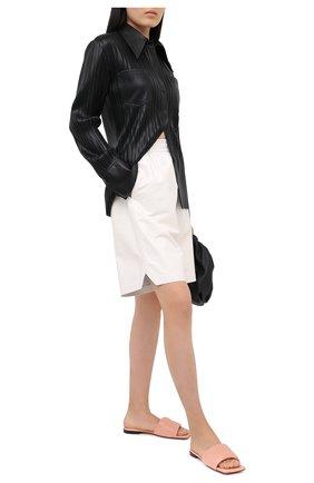 Женские кожаные шлепанцы bv rubber BOTTEGA VENETA светло-розового цвета, арт. 639940/VBP30   Фото 2