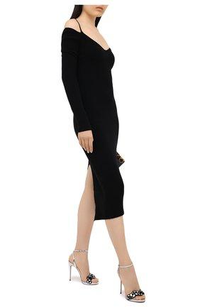 Женские кожаные босоножки pansy queen 120 CHRISTIAN LOUBOUTIN серебряного цвета, арт. pansy queen 120 specchio/vv   Фото 2