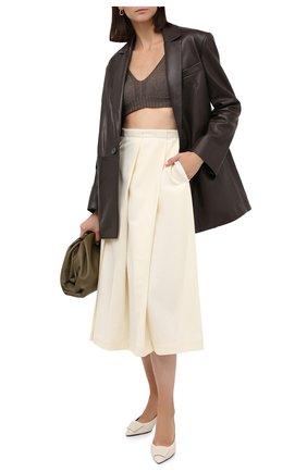 Женский кожаный жакет TWINS FLORENCE темно-коричневого цвета, арт. TWFAI20GIA0001 | Фото 2