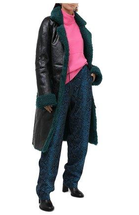 Женская дубленка DRIES VAN NOTEN зеленого цвета, арт. 202-11812-1382 | Фото 2
