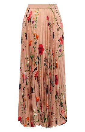 Женская шелковая юбка VALENTINO бежевого цвета, арт. UB0RA702624 | Фото 1